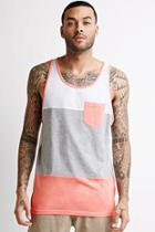 Forever21 Heathered Colorblock Pocket Tank