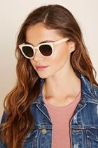 Forever21 Champagne & Grey Ombre Cat Eye Sunglasses