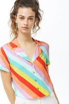 Forever21 Multicolored Striped Shirt