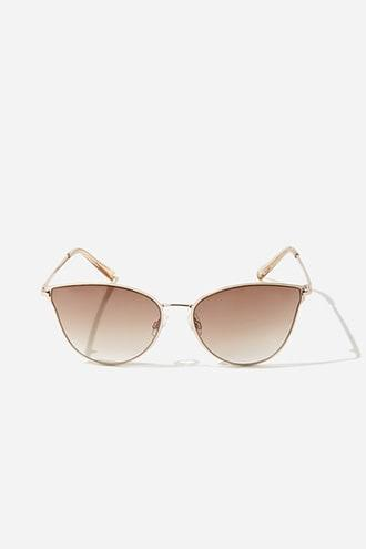 Forever21 Metal Cat-eye Gradient Sunglasses