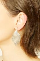 Forever21 Cutout Leaf Earring Set