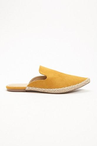 Forever21 St. Sana Faux Leather Espadrille Mules