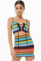 Forever21 Striped Cropped Cami & Mini Skirt Set