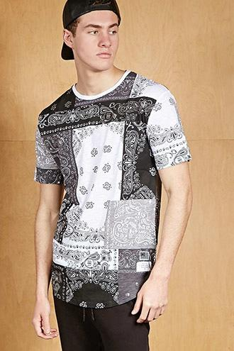 Forever21 Reason Patchwork Graphic Tee