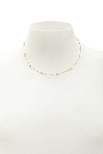 Forever21 Cz Station Necklace