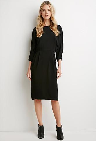 Love21 Batwing-sleeved Dress