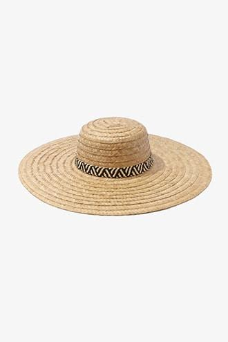 Forever21 Basketweave Boater Hat