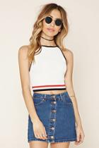 Forever21 Women's  Colorblock Cropped Cami