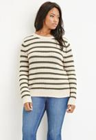 Forever21 Plus Stripe Chunky Knit Sweater
