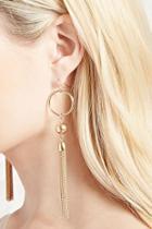 Forever21 Drop Tassel Earrings