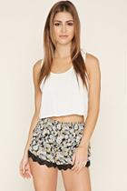 Forever21 Women's  Crochet-trimmed Shorts