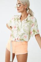 Forever21 Watercolor Floral Shirt