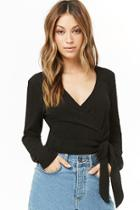 Forever21 Cable-knit Surplice Top