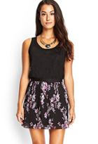 Forever21 Pleated Floral Chiffon Skirt