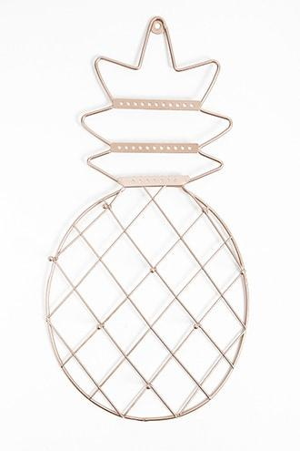 Forever21 Metallic Wired Pineapple-shaped Jewelry Holder