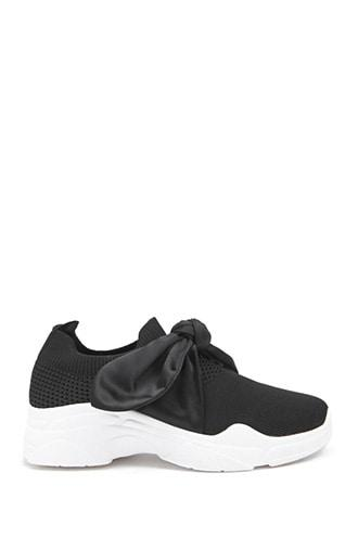 Forever21 Ribbon Laced Low Top Sneakers