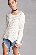 Forever21 Vented Open-knit Sweater