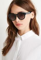Forever21 Round Sunglasses (blue/brown)