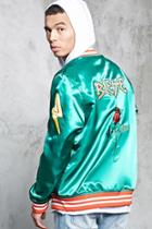 Forever21 Blessed Embroidered Jacket