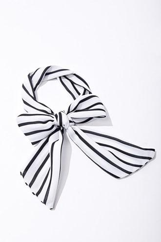 Forever21 Striped Self-tie Ponytail Holder