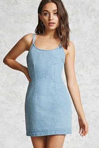 Forever21 Fitted Denim Mini Dress