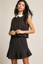 Forever21 Pinstripe Layered Dress