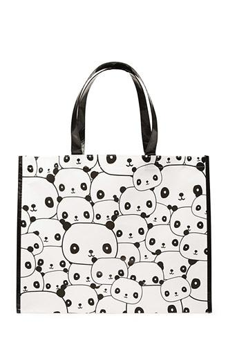 Forever21 Panda Print Eco Tote