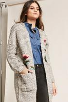 Forever21 Floral Embroidered Cardigan