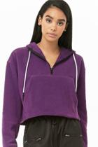 Forever21 Fleece Hooded Pullover