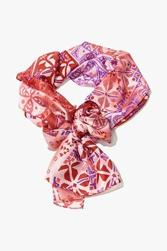 Forever21 Satin Tribal-inspired Oblong Scarf