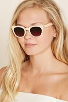 Forever21 Peach & Brown Ombre Cat Eye Sunglasses