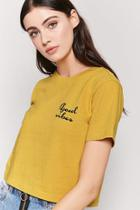 Forever21 Good Vibes Graphic Tee