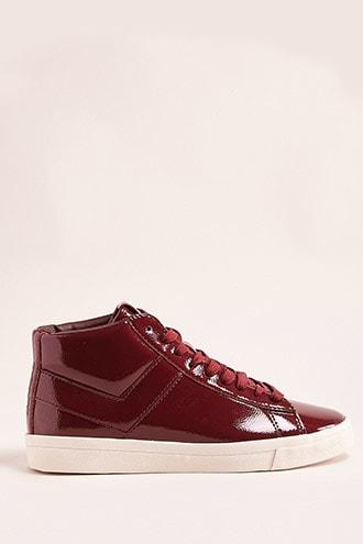 Forever21 Pony Topstar Patent High-top Sneakers
