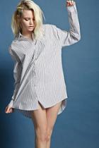 Forever21 Longline Striped Shirt