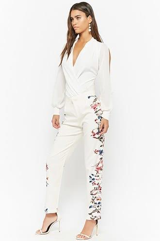 Forever21 Floral High-rise Pants