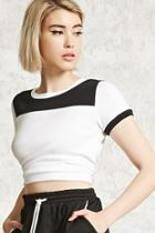 Forever21 Colorblock Cropped Tee