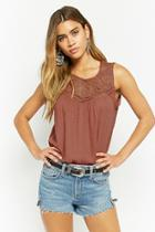 Forever21 Floral-embroidered Top