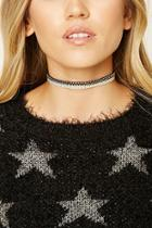 Forever21 Faux Suede Contrast Choker