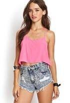 Forever21 Distressed Mineral Wash Cutoffs