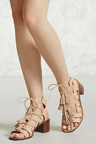 Forever21 Tasseled Faux Leather Heels