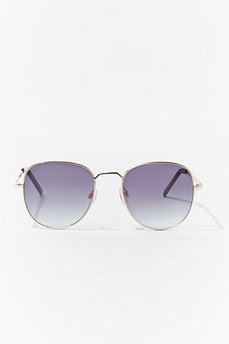 Forever21 Round Gradient Aviator Sunglasses