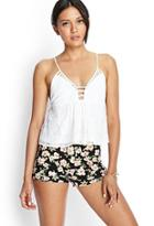 Forever21 Knit Floral Print Shorts