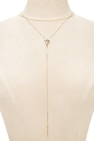 Forever21 Layered Lariat Bar Necklace