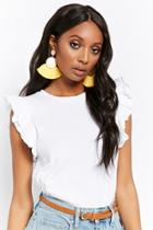 Forever21 Tiered Ruffle Sleeve Top