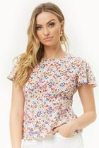 Forever21 Ditsy Floral Print Top