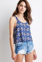 Forever21 Tribal Print Buttoned Tank