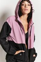 Forever21 Colorblock Hooded Jacket