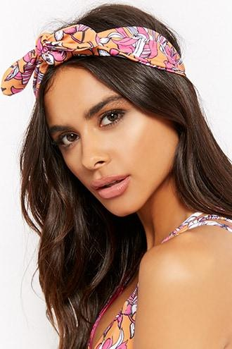 Forever21 Kulani Kinis Floral Tie-front Headwrap