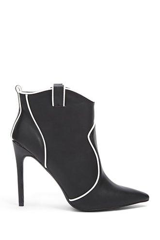 Forever21 Piped Trim Booties