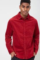 Forever21 Velvet Pocket Shirt